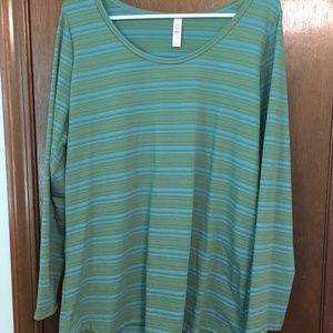 LuLaRoe Lynnae Long Sleeve Shirt Size XL